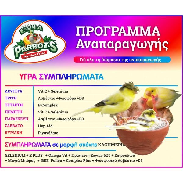 Evia Parrots Πακέτο Προγράμματος Αναπαραγωγής