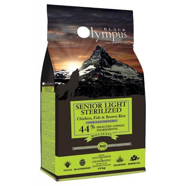 Black Olympus Senior Light Sterilised 12kg