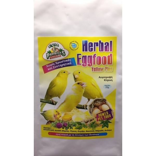 EVIA PARROTS Herbal Eggfood Yellow plus 1kg
